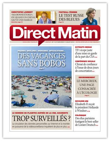 Direct Matin 11-07-2012 - Tendance : Parkour insolite