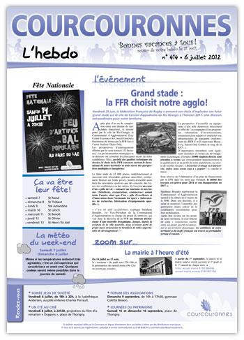 Courcouronnes hebdo 414 - 06-07-2012