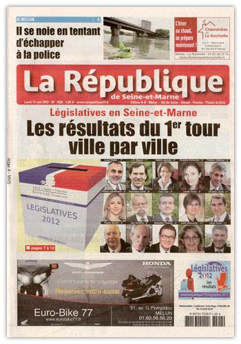Journal La Republique de seine et marne 11-06-12
