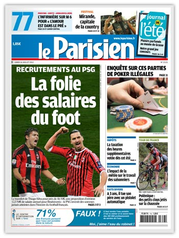Le Parisien 16-07-12 - L'ancien Yamakasi lance sa griffe