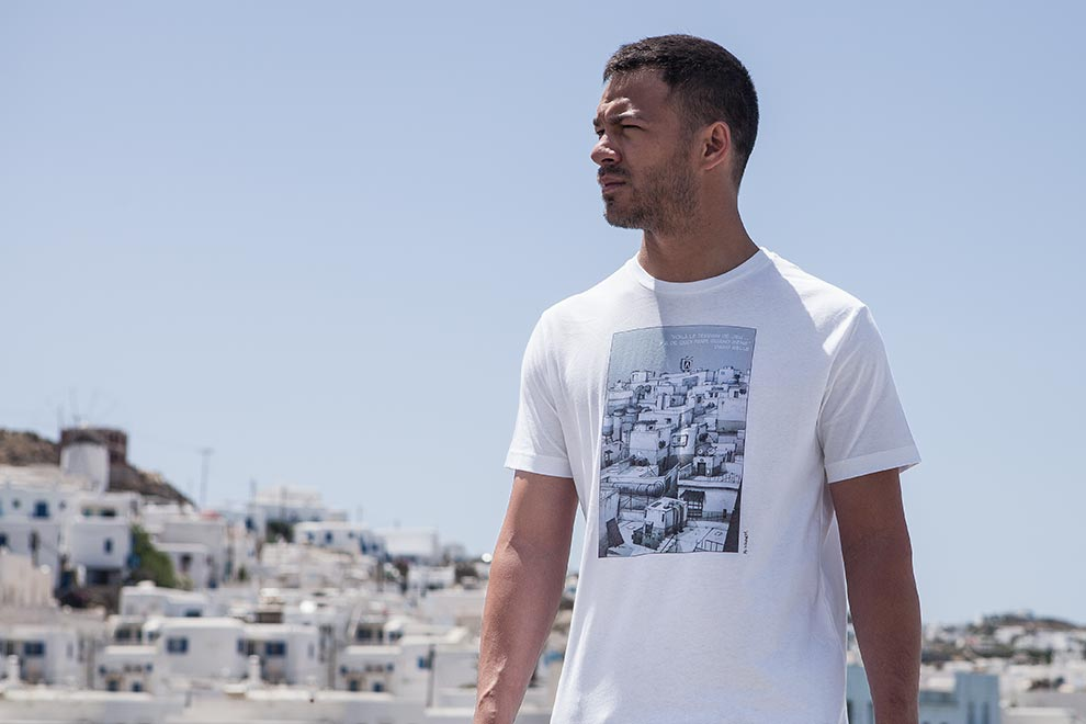 TRACEUR - T-shirt Playground - Rudy Duong - Nkodem - David Belle - Mykonos Cyclades grecques
